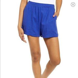 COPY - NWT BP Blue Cuff Hem Linen Blend Shorts